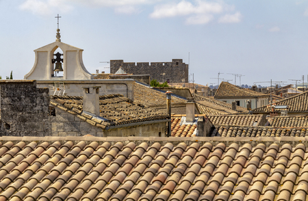 High angle view of a commune named Aigues-Mortes in France 版權商用圖片