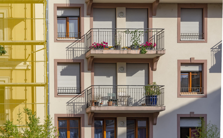 architectural detail of Mulhouse, a city in the Alsace region in France Archivio Fotografico