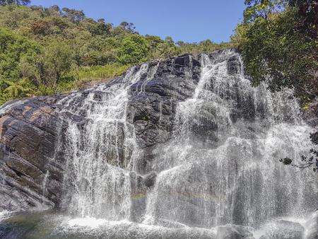 natural waterfall scenery seen in Sri Lanka Stock Photo