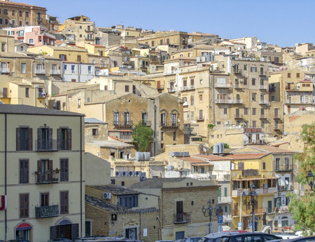 City view of Agrigento located in Sicily, Italy 스톡 콘텐츠