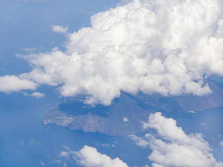 Scenery including some clouds above Sicily