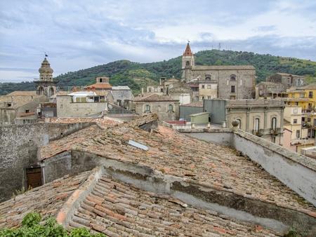 High angle view showing a comune in Sicily named Castiglione di Sicilia