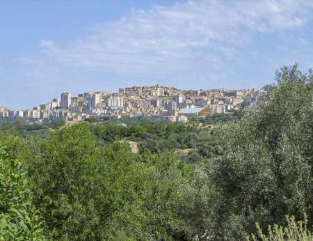 Scenery around a city named Agrigento located in Sicily, Italy