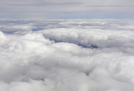aerial scenery above and in between of some clouds Banco de Imagens