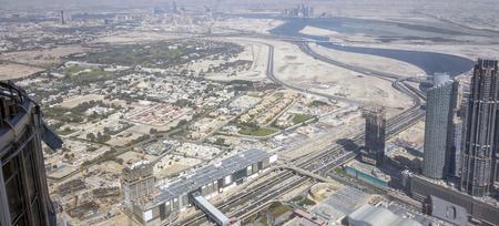 aerial view of Dubai in the United Arab Emirates Stok Fotoğraf