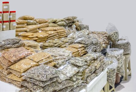 lots of dried seafood seen at a market in Dubai