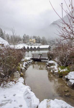 Scenery around Schoenau am Koenigssee in Bavaria at winter time