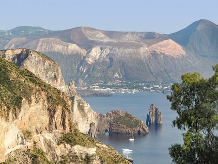 island named Lipari, the largest of the Aeolian Islands in the Tyrrhenian Sea near Sicily in Italy