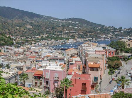 Lipari located at a island named Lipari, the largest of the Aeolian Islands in the Tyrrhenian Sea near Sicily in Italy