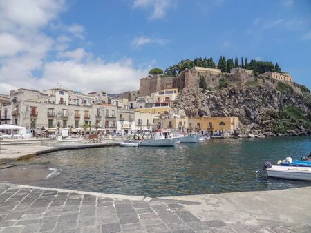 Lipari located at a island named Lipari, the largest of the Aeolian Islands in the Tyrrhenian Sea near Sicily in Italy