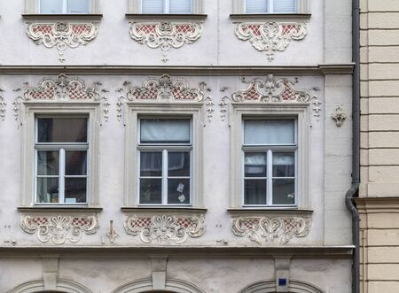 architectural detail seen in Bamberg, a town in Bavaria