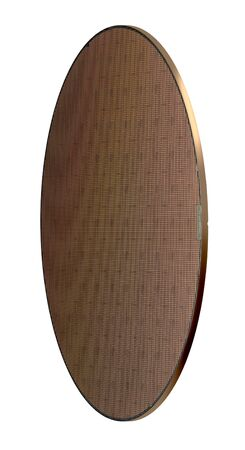 angle shot of a wafer in white back