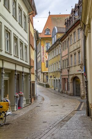 idyllic scenery in Bamberg, a town in Upper Franconia, Germany 免版税图像