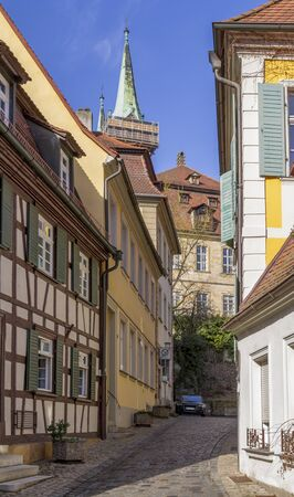 idyllic scenery in Bamberg, a town in Upper Franconia, Germany