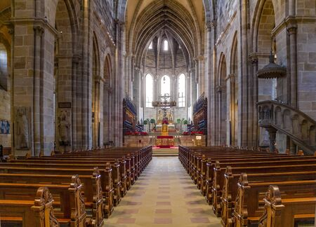 interior of the Bamberg Cathedral, a church in Bamberg, Germany