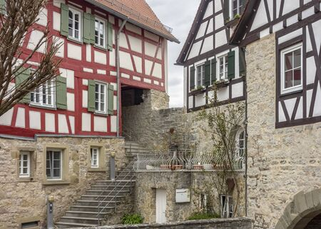 Impression of a idyllic town named Vellberg in Southern Germany Фото со стока