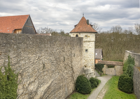 Impression of a idyllic town named Vellberg in Southern Germany Редакционное