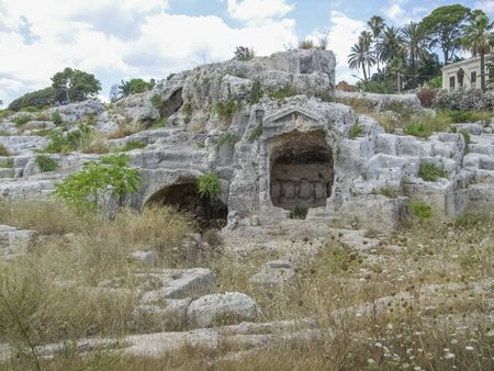 some ancient remains located around Syracuse, a city in Sicily, Italy