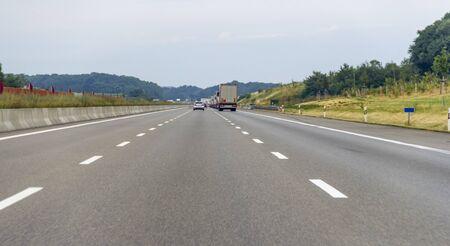 highway scenery in Germany at summer time 版權商用圖片