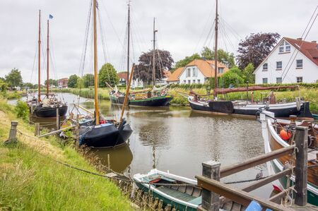 impression of Carolinensiel, a town at the North sea coast in Germany Imagens - 130276499