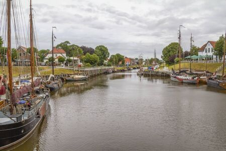 impression of Carolinensiel, a town at the North sea coast in Germany Imagens - 130276431