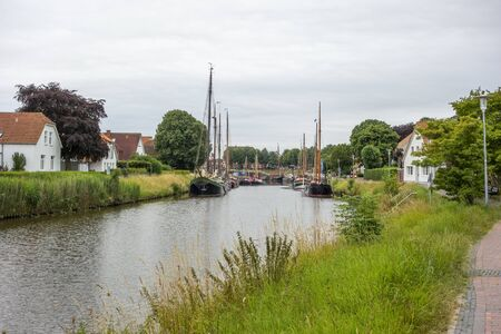 impression of Carolinensiel, a town at the North sea coast in Germany Imagens - 130276438
