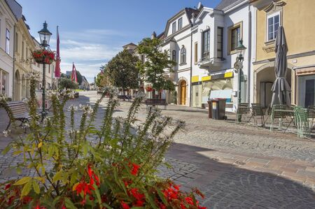 sunny city view of Eisenstadt. a city in the Burgenland area in Austria Imagens