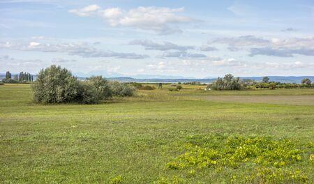 idyllic rural scenery around Illmitz in a area named Burgenland in Austria Stock Photo