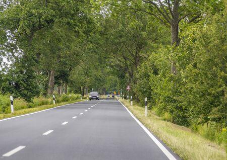 street scenery in East Frisia, a area in Northern Germany Zdjęcie Seryjne