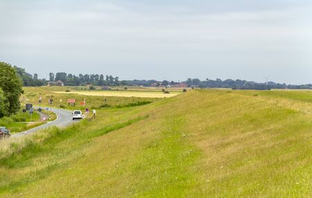 levee scenery in East Frisia, a area in Northern Germany