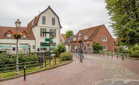 Idyllic scenery in Greetsiel, a idyllic village located in East Frisia, Northern Germany