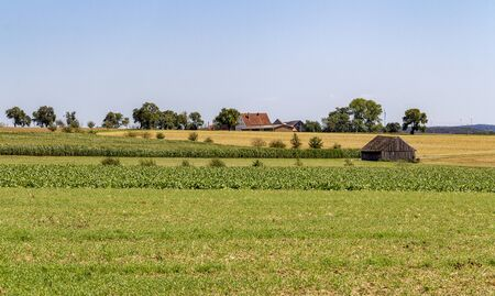 rural landscape in Souther Germany at late summer time