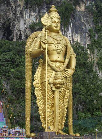 Murugan statue at the Batu Caves in Gombak, Selangor in Malaysia