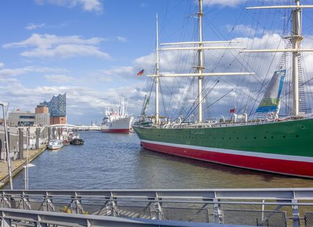 scenery around the Port of Hamburg in Germany