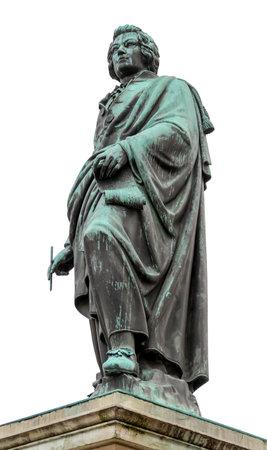 bronze statue showing Wolfgang Amadeus Mozart seen in Salzburg, Austria