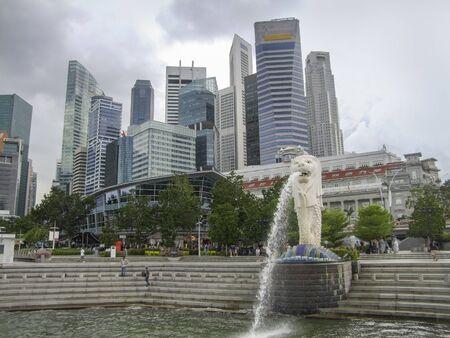 Skyline und Stadtansicht von Singapur, einem Stadtstaat in Südostasien