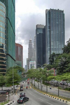 architectural impression of Kuala Lumpur, the capital city of Malaysia