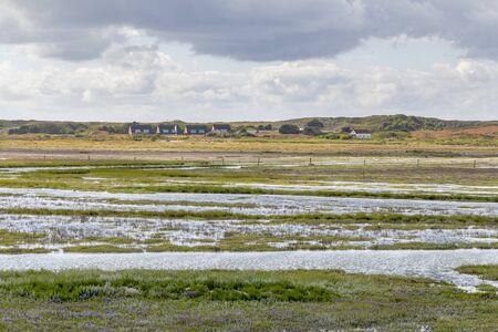 coastal impression of Spiekeroog, one of the East Frisian Islands at the North Sea coast of Germany