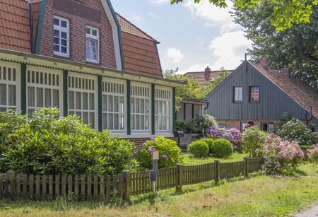impression of Spiekeroog village which is located at Spiekeroog island, one of the East Frisian Islands at the North Sea coast of Germany