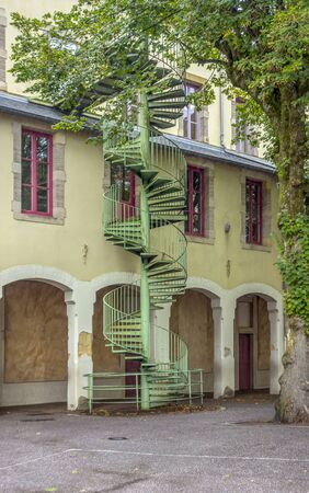 spiral staircase seen in Epinal, the capital city of the Vosges departmend in France