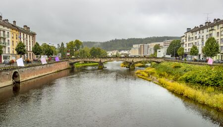city view of Epinal, the capital city of the Vosges departmend in France