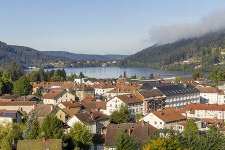 aerial view of Gerardmer, a commune in the Vosges department in Grand Est in northeastern France Reklamní fotografie