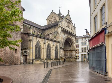 scenery around Saint-Maurices Basilica in Epinal, the capital city of the Vosges departmend in France