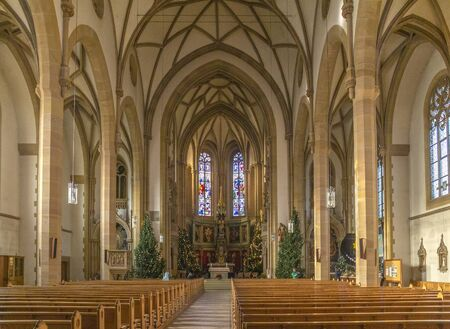 scenery inside the St Josephs Church located in Speyer, Germany