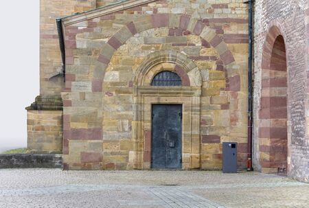 small entrance at the Speyer Cathedral located in Speyer, Germany