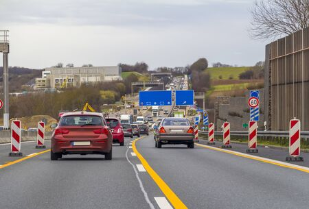 scenery at a controlled-access highway in Germany