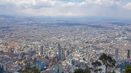 aerial view of Bogota, the capital and largest city of Colombia
