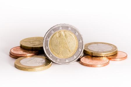 old coins: Euro simbolo dell'aquila