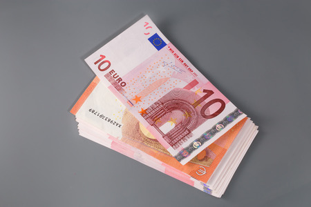 ten: ten euro banknote Stock Photo