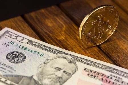 editorial: gold bitcoin with dollar
